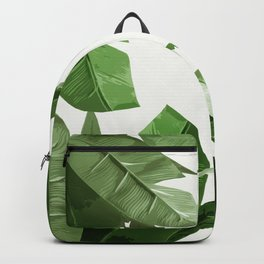 Tropical Palm Print Treetop Greenery Backpack