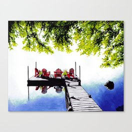 Adirondack Dock Canvas Print