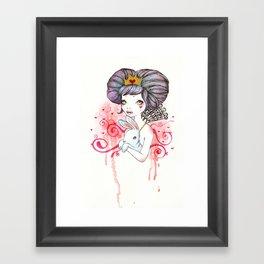 Princess with bunny Framed Art Print