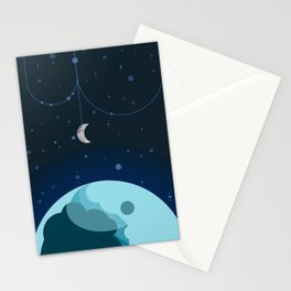 Moon and Planet Stationery Cards