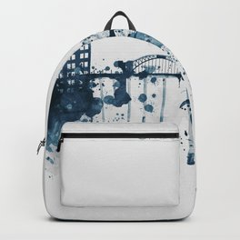 Blue Chattanooga skyline design Backpack