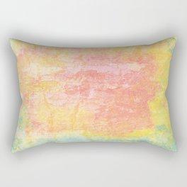 Pink, Yellow and Blue Texture Rectangular Pillow