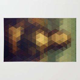 Mona Lisa Triangle Art Rug
