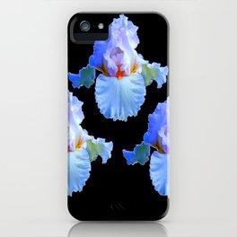 PASTEL BLUISH WHITE IRISES iPhone Case