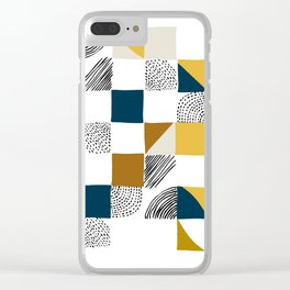 Square, Dots and Lines Clear iPhone Case