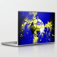 sweden Laptop & iPad Skins featuring football Sweden  by seb mcnulty
