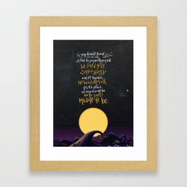 jack & sally - simply meant to be Framed Art Print