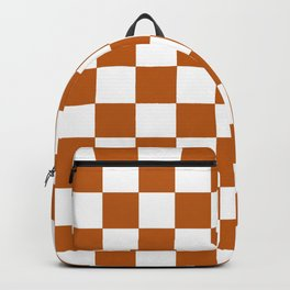 Checker Texture  (Bronze & White) Backpack