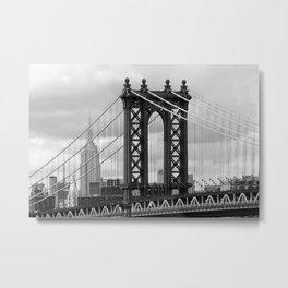 new york city ... manhattan bridge trilogy I Metal Print