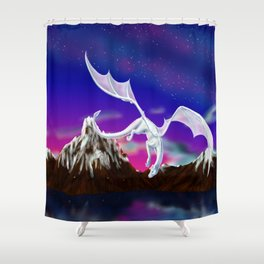 Dragon of the Stars - Itisha the Dragoness Shower Curtain