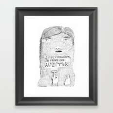 shave it! Framed Art Print
