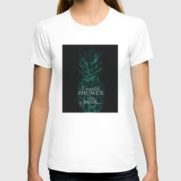 I would rather shower with a bear - Psych quotes T-shirt