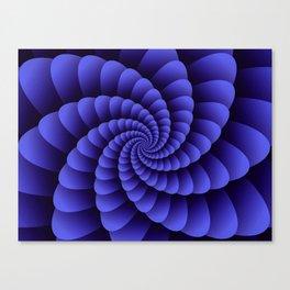 Trippy Nautilus Purple Swirl  / Nautical Swirl Digital Design Canvas Print