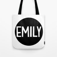 emily rickard Tote Bags featuring Emily by Amy Lovesowls