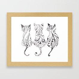 Trio of Cats Framed Art Print