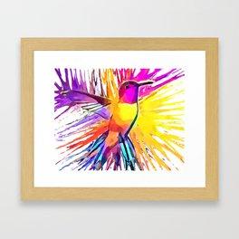 Hummingbird Watercolor Framed Art Print