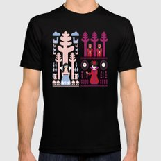Good vs Evil: Snow White and the Evil Queen Black MEDIUM Mens Fitted Tee