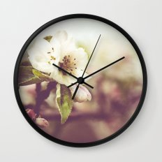 Lonely blossom Wall Clock