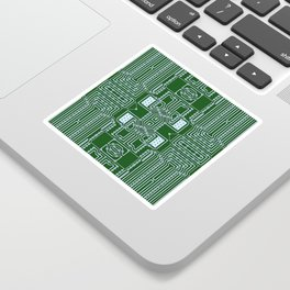 Computer Geek Circuit Board Pattern Sticker
