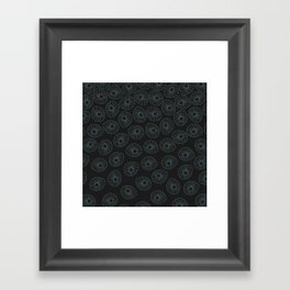 Mint Abstract On Textured Black Framed Art Print