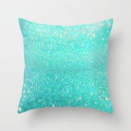 sparkle sea Throw Pillow