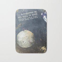 Men walk on Moon Astronauts Bath Mat