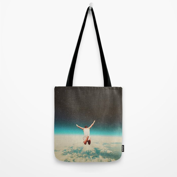 Falling with a hidden smile Tote Bag