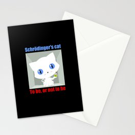 Shrodinger's Cat To be or not to be Stationery Cards