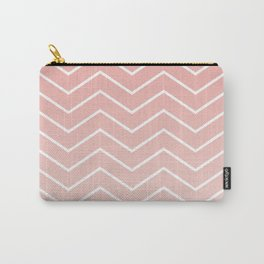 Blush Pink Chevron Carry-All Pouch