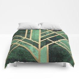 Art Deco Emerald Comforters