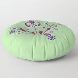 Voodoo Symbol Papa Legba Floor Pillow