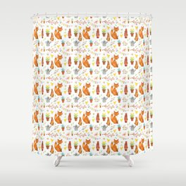 Easter Pattern Shower Curtain