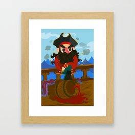 Blackbeard the pirate Framed Art Print