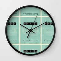 politics Wall Clocks featuring Politics by politics