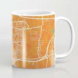 Basildon, England, Gold, Blue, City, Map Coffee Mug