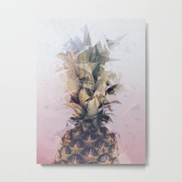 Defragmented Pineapple Metal Print