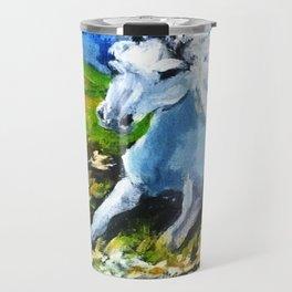 Horse in the landscape Travel Mug