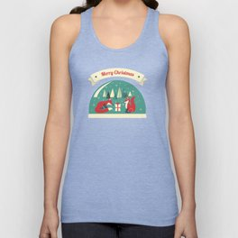 Christmas Foxes Unisex Tank Top
