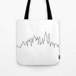 New York City Skyline Silhouette Tote Bag
