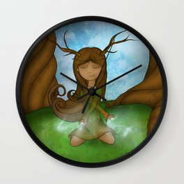 Forest Nimph Wall Clock