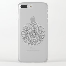 Classic Ceiling Rose Clear iPhone Case