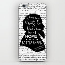 Into a Better Shape - Dickens (B&W Large) iPhone Skin