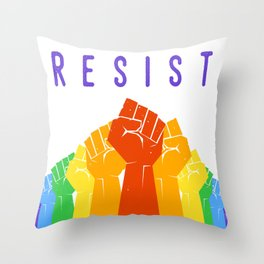 Resist (Pride) Throw Pillow