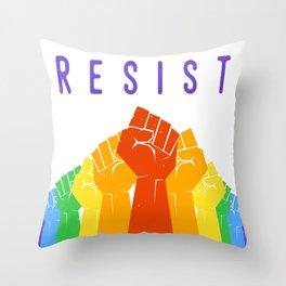 Resist (Pride) Throw Pillow