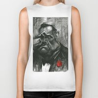 godfather Biker Tanks featuring The Godfather by MK-illustration