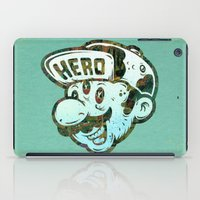 super hero iPad Cases featuring Hero by Beery Method