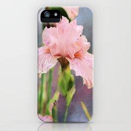 Lovely Pink Iris iPhone Case