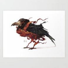 Tapestry Rook Art Print