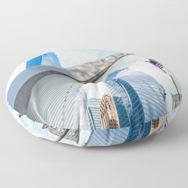 One World Trade Center and Oculus in New York Floor Pillow
