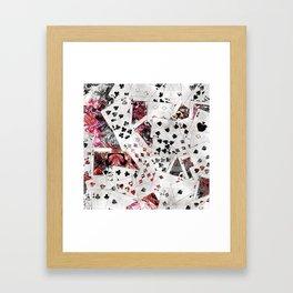 Abstract  Playing Cards Digital art Framed Art Print